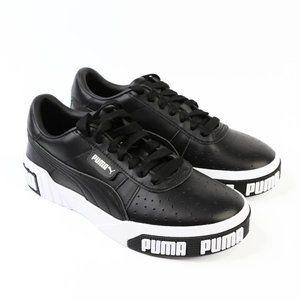 Puma Cali Bold Black and White Sneakers 7 US